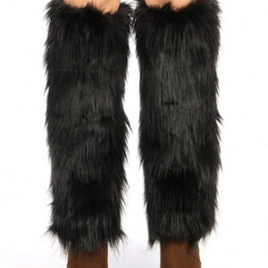 Other - Furry frost faux fur boot covers leg warmers